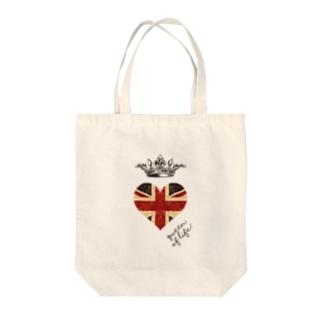 di-2 UKハート Tote bags