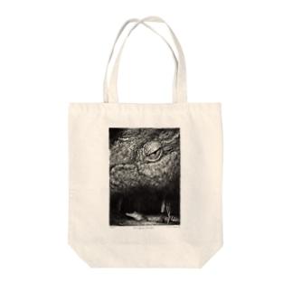 Crocodylus porosus Tote bags