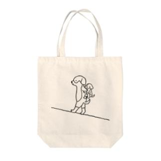 母の日/父の日ドッグ Tote bags
