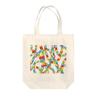 paper chain Tote bags