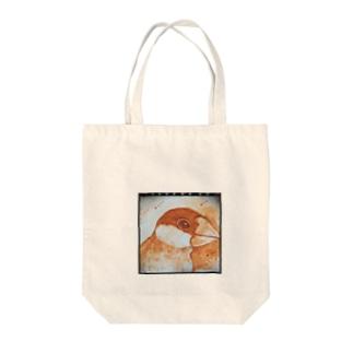 セピアな文鳥さん Tote bags