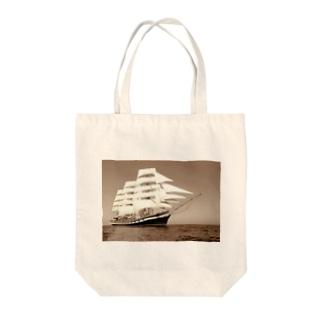 帆船セピア~宝を求めて大冒険~ Tote bags
