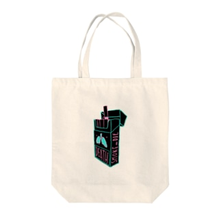smoke or die Tote bags