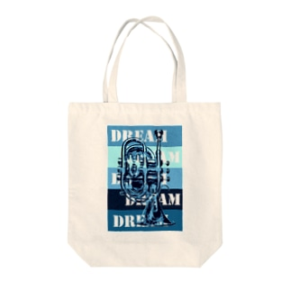 A DREAM IS IN YOUR POCKET! -blue- Tote bags