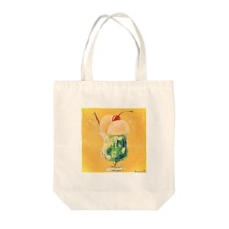 クリームソーダさん Tote bags