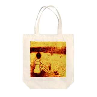 Sunset Beach 2014 Tote bags