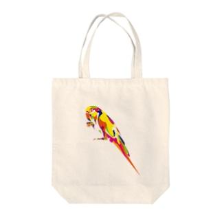 コンゴウインコ Tote bags