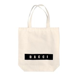 dacci ブロック(白字) Tote bags