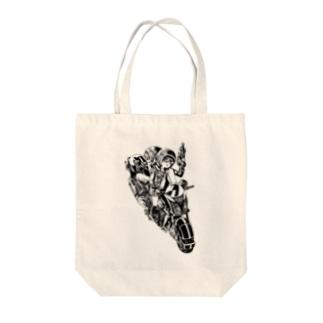 ピコピコハンマーと水鉄砲 Tote bags