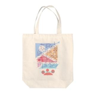 紙ペラにゃんこ(たくさん) Tote bags