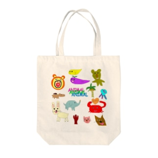 アニマルランド Tote bags