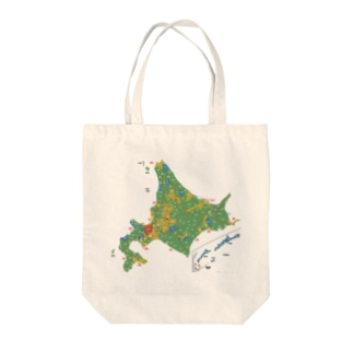 北海道179市町村地図 Tote bags
