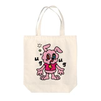 JUNKIE GREY【Pink】     Tote bags