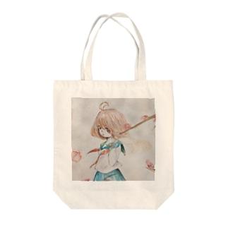 憂咲の春来 Tote bags