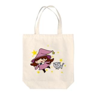 魔女と使い魔 Tote bags