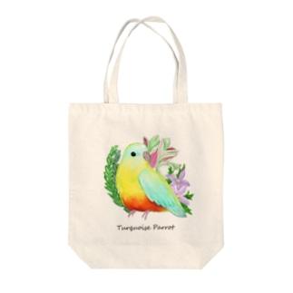 キキョウインコ 厚塗り風 Tote bags