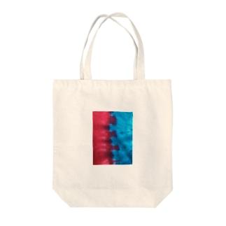 zakkaya 雑貨屋 孵 kaeruのピンク&ブルー Tote bags