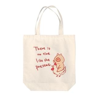 にわとりライダー Tote bags