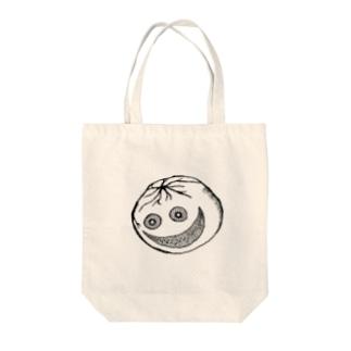 怖いトマト Tote bags