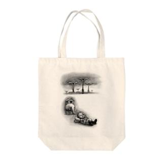 ヤノベケンジ《トらやんの大冒険》(ラッパとおひるね) Tote bags