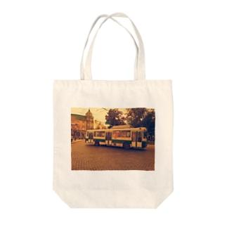 ウクライナのトロリーバス Tote bags