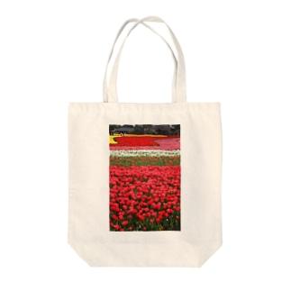 お花畑 Tote bags