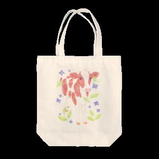 牛絵屋の水彩うし Tote bags