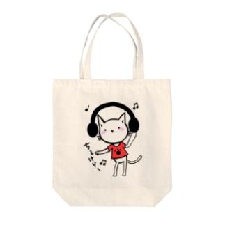 ちぇけらー Tote bags