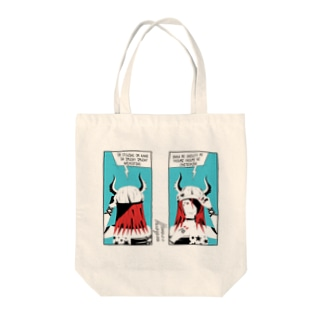ツノ娘トート Tote bags