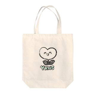 akioco's character goodsのしょくぶつマン(白) Tote bags