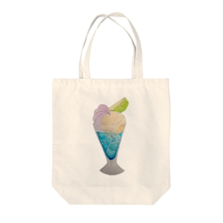 大人のクリームソーダ モーニング・グロウリー Tote bags