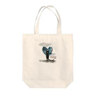 Hug cat Tote bags