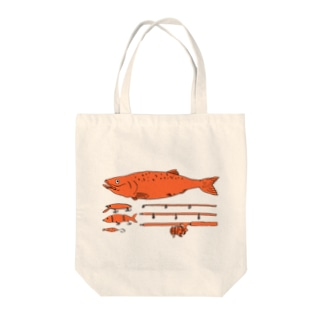 Salmon Fishing Tote bags