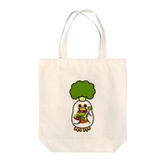 ブロッコロイラー Tote bags