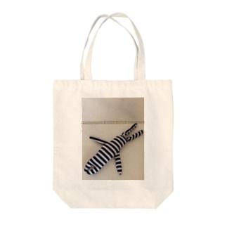 helLoverylUckyMEのたてしまよこしまななめしまちゃん Tote bags