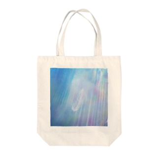WIngs in flowing Rainbow Tote bags