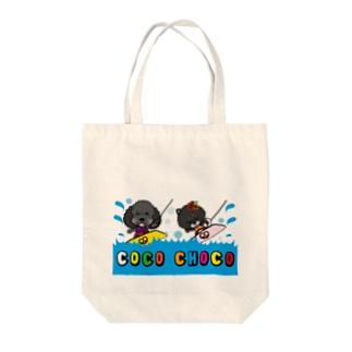ウェイクボード!COCO&CHOCOちゃん Tote bags