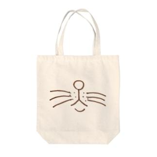 猫 おすましお口 Tote bags