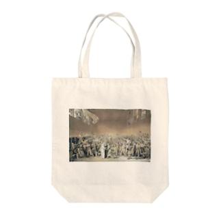 テニスコートの誓い Tote bags