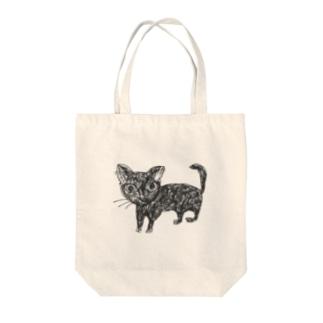 深淵を覗く猫 Tote bags