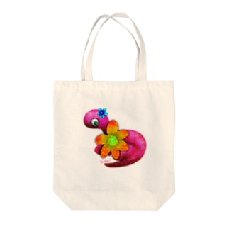 Brachiosaurus -flower- Tote bags