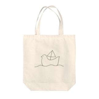トリのふね Tote bags