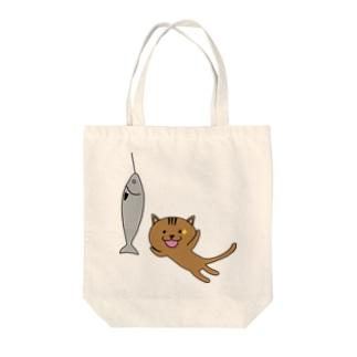チャンス猫 Tote bags