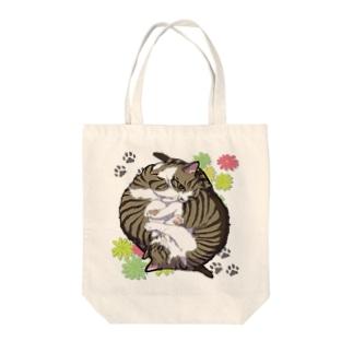 くるくる猫たち(背景無) Tote bags