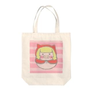ぶたずきんちゃん Tote bags