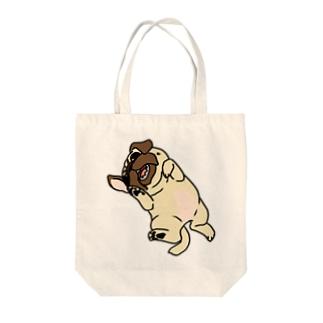 パグ(フォーン)トートバッグ Tote bags