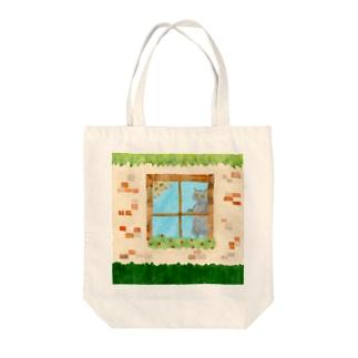 窓辺のねこたち Tote bags