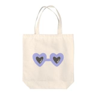 blue×sunglasses Tote bags