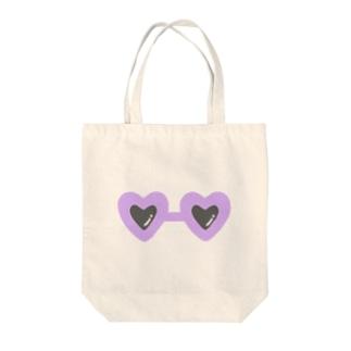 purple×sunglasses Tote bags