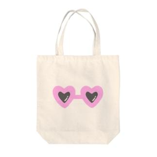 pink×sunglasses Tote bags